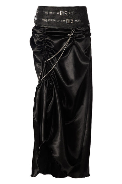 Jordyn Gothic Black Bustle Skirt