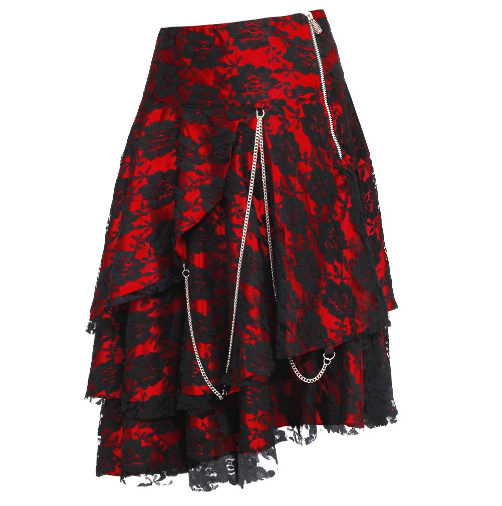 Sheena Red Gothic Skirt