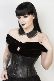 Underbust Waspie Plus Size Leather Corset
