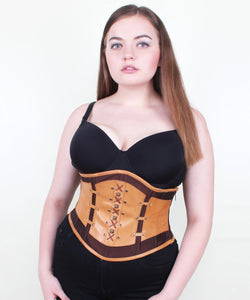 Loyalty Taffeta & Leather Underbust Corset