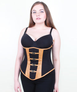 Naveah Gothic Cotton & Leather Underbust Corset