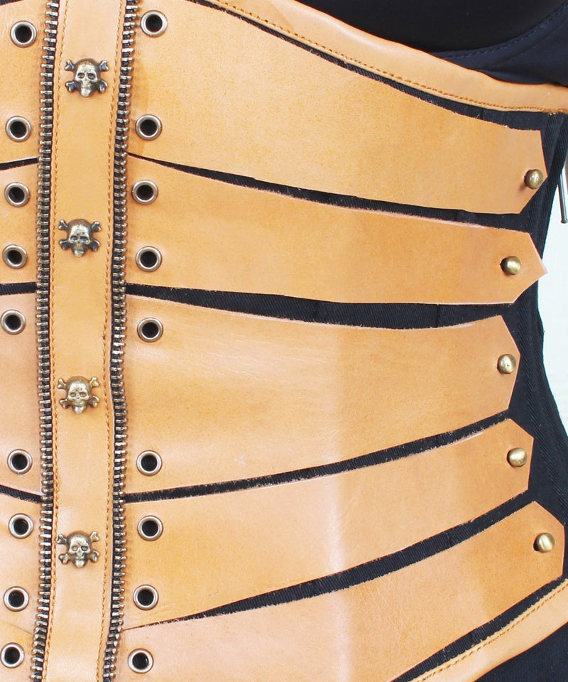 Nataly Cotton & Leather Underbust Corset