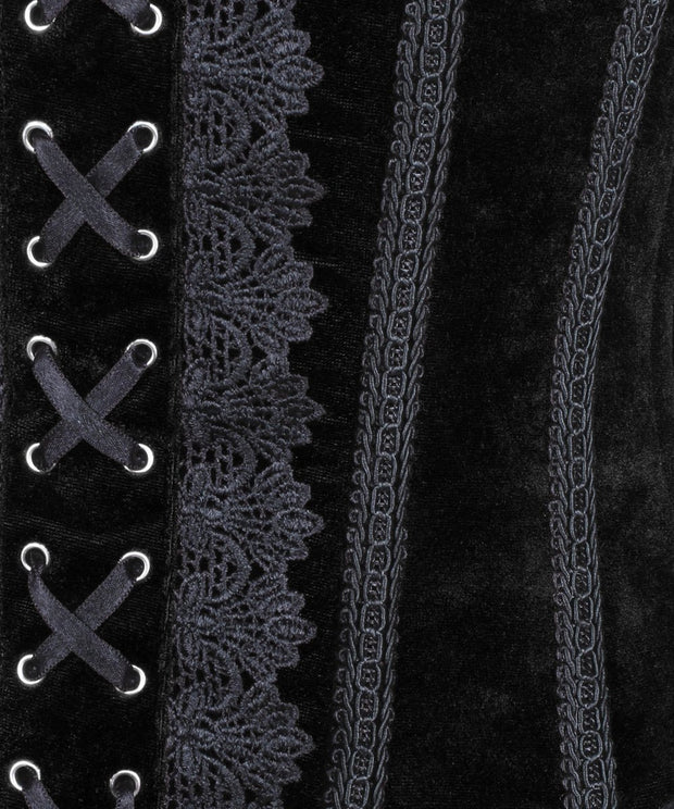 SOLD OUT - Anaiah Black Gothic Velvet Underbust Corset