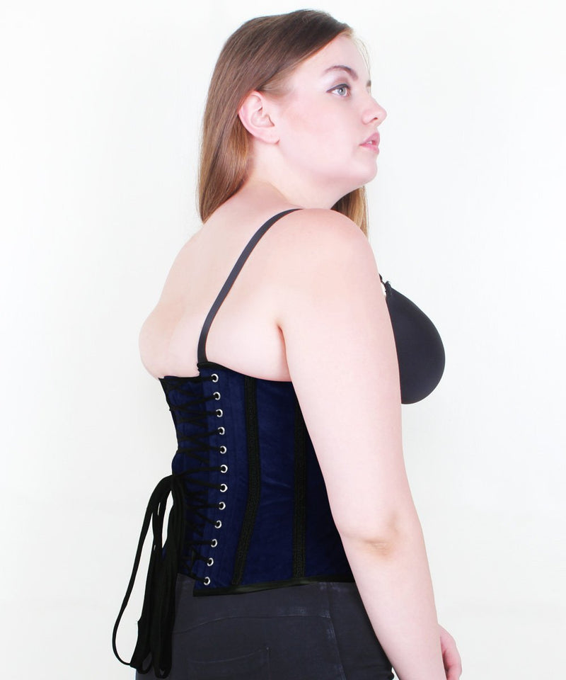 Gracyn Gothic Underbust Corset in Velvet & Lace