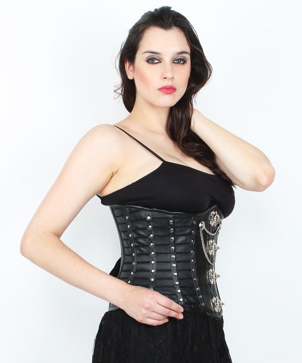 Ramsey Gothic Underbust Corset with Metal Clasp Opening
