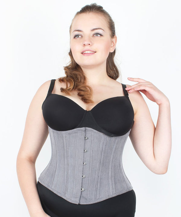 Kynleigh Cotton Herringbone Waist Trainig Corset