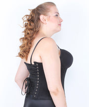 SOLD OUT - Maitha Black Herringbone Waist Trainer Corset