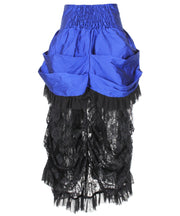 Zari Blue Victorian Skirt
