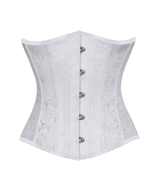 SOLD OUT - Jesslyn Brocade Underbust White Corset