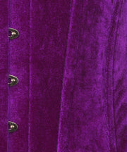 SOLD OUT - Aubrie Purple Velvet Underbust Corset