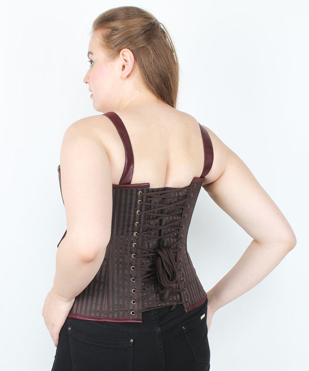 Kinzlee Brown Brocade Steampunk Corset