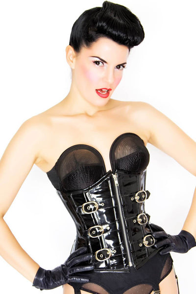 Layah Custom Made Gothic Underbust Black Corset