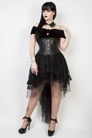 Kirby Custom Made Black Lace Gothic Skirt