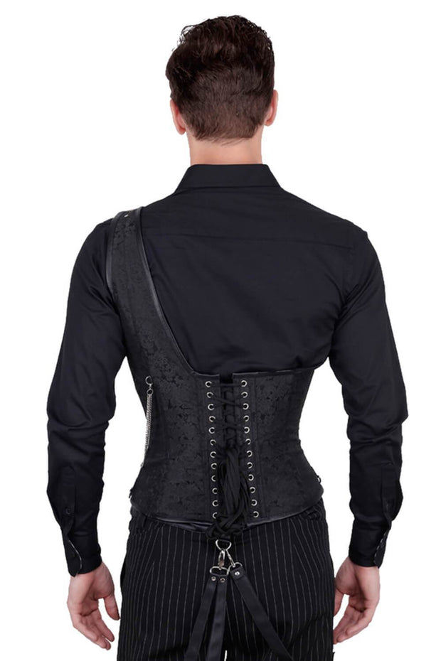 Abraxas Custom Made Brocade Gothic Men's Corset
