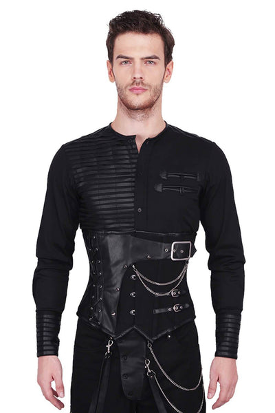 Acanthus Custom Made Gothic Cotton Men's Corset