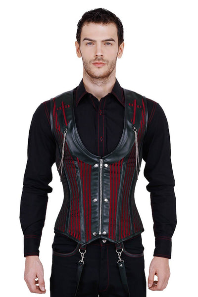 Alaric Custom Made Steel Boned Gothic Men's Corset