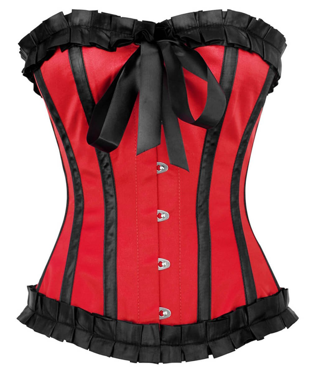 Phelim Burlesque Red Overbust Corset