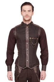 Dankmar Steampunk Men's Overchest Corset