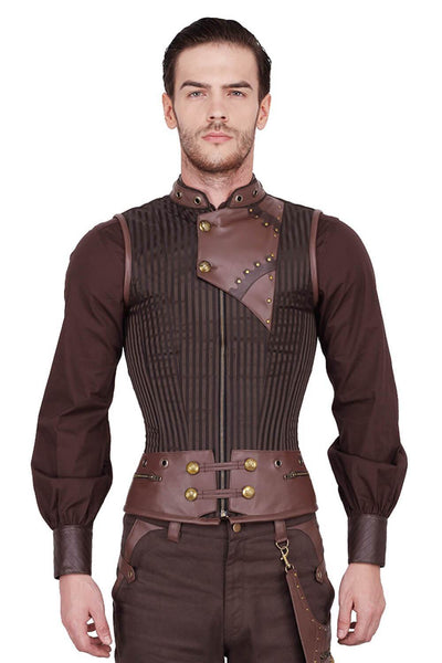 Detlef Custom Made Steampunk Men's Overchest Corset