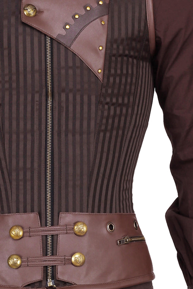 Detlef Steampunk Men's Overchest Corset