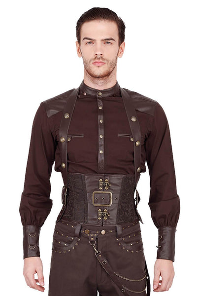 Dieter Custom Made Steampunk Underchest Men's Corset