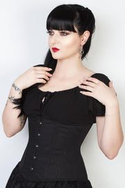 Jagger Black Cotton Underbust Corset