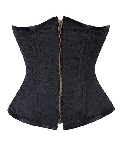 Daysha Black Waist Training Steel Boned Corsets