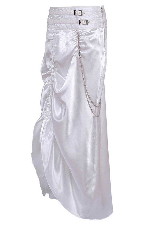 Sheridan White Bustle Skirt