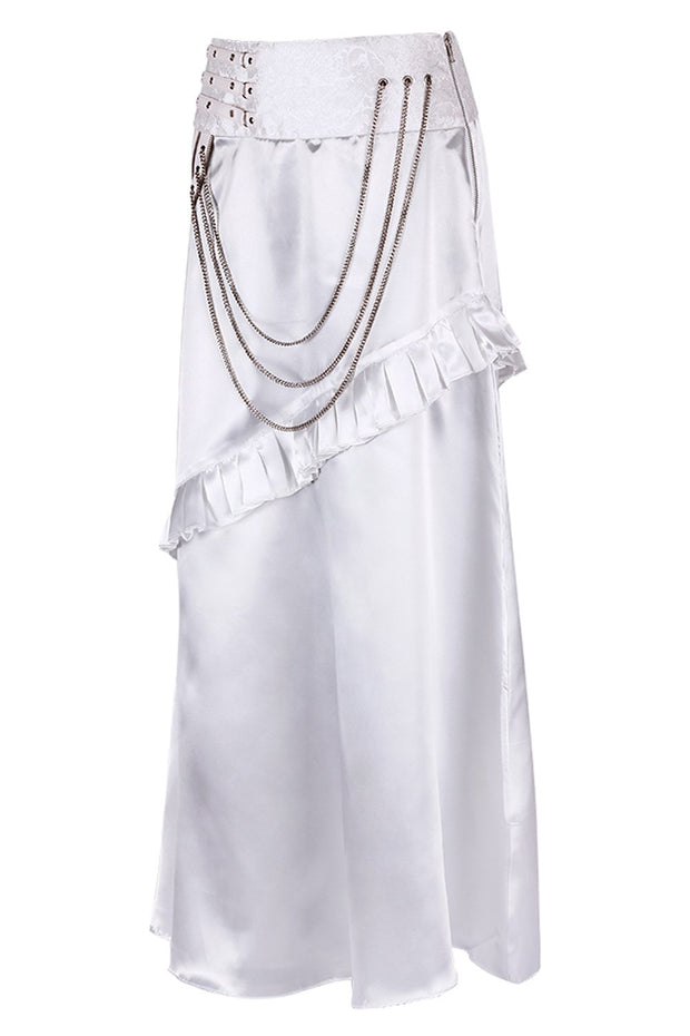 Roux White Layered Skirt