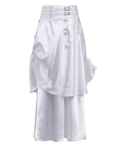 Ordman White Double Layered Skirt