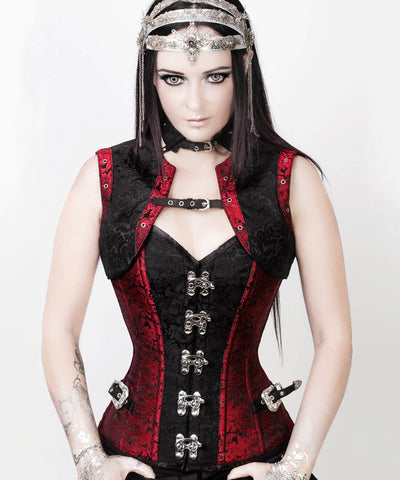 SOLD OUT - Steampunk Overbust Corset with Shrug