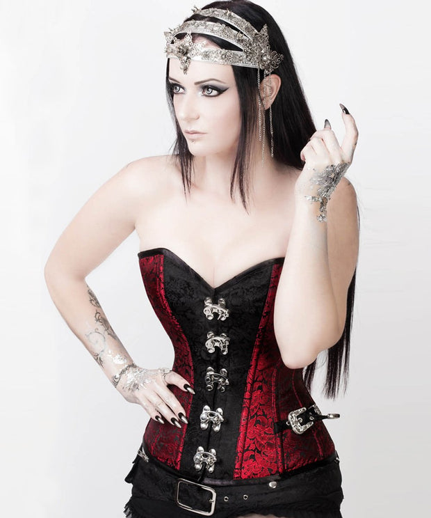 Steampunk Overbust Corset with Shrug