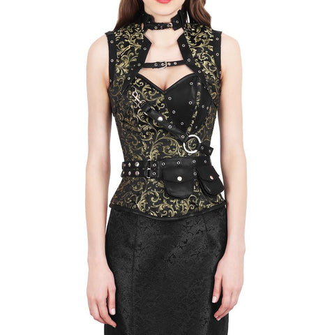 Hallil Steampunk Fashion Corset