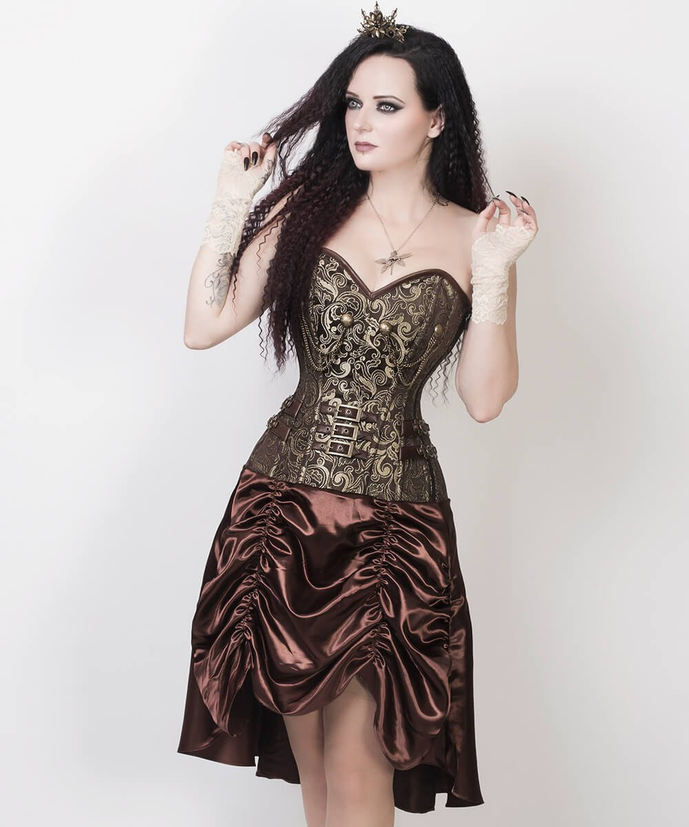 Abhainn Steampunk Gold Corset Dress