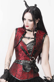 Vladmir Brocade Steampunk Corset with Detachable Belt