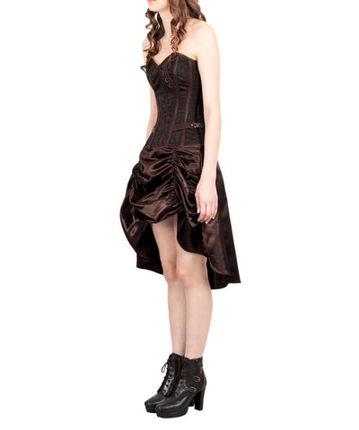 Omat Steampunk Corset Brown Dress
