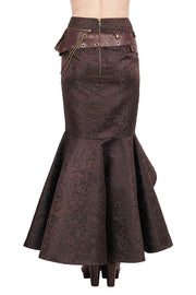 Haleema Custom Made Long Ruffled Steampunk Skirt