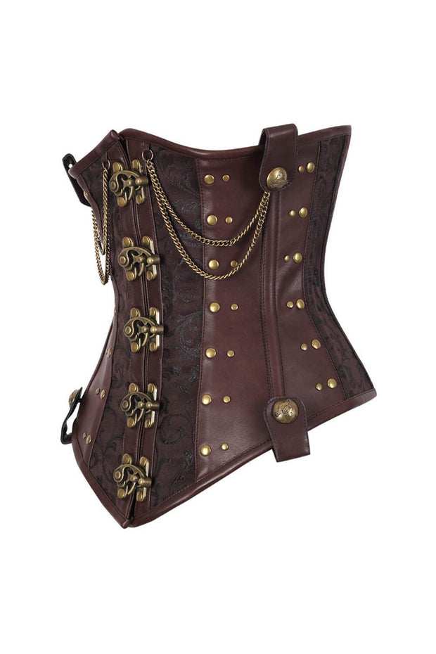 Sallai Custom Made Steampunk Brocade Corset