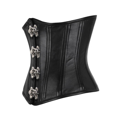 Eileithyia Genuine Sheep Napa Leather Waist Trainer Corset