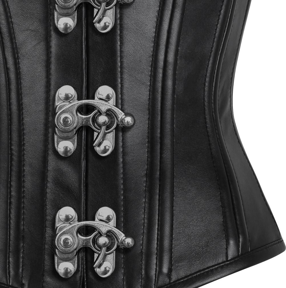 Eileithyia Genuine Sheep Napa Leather Waist Training Custom Made Corset