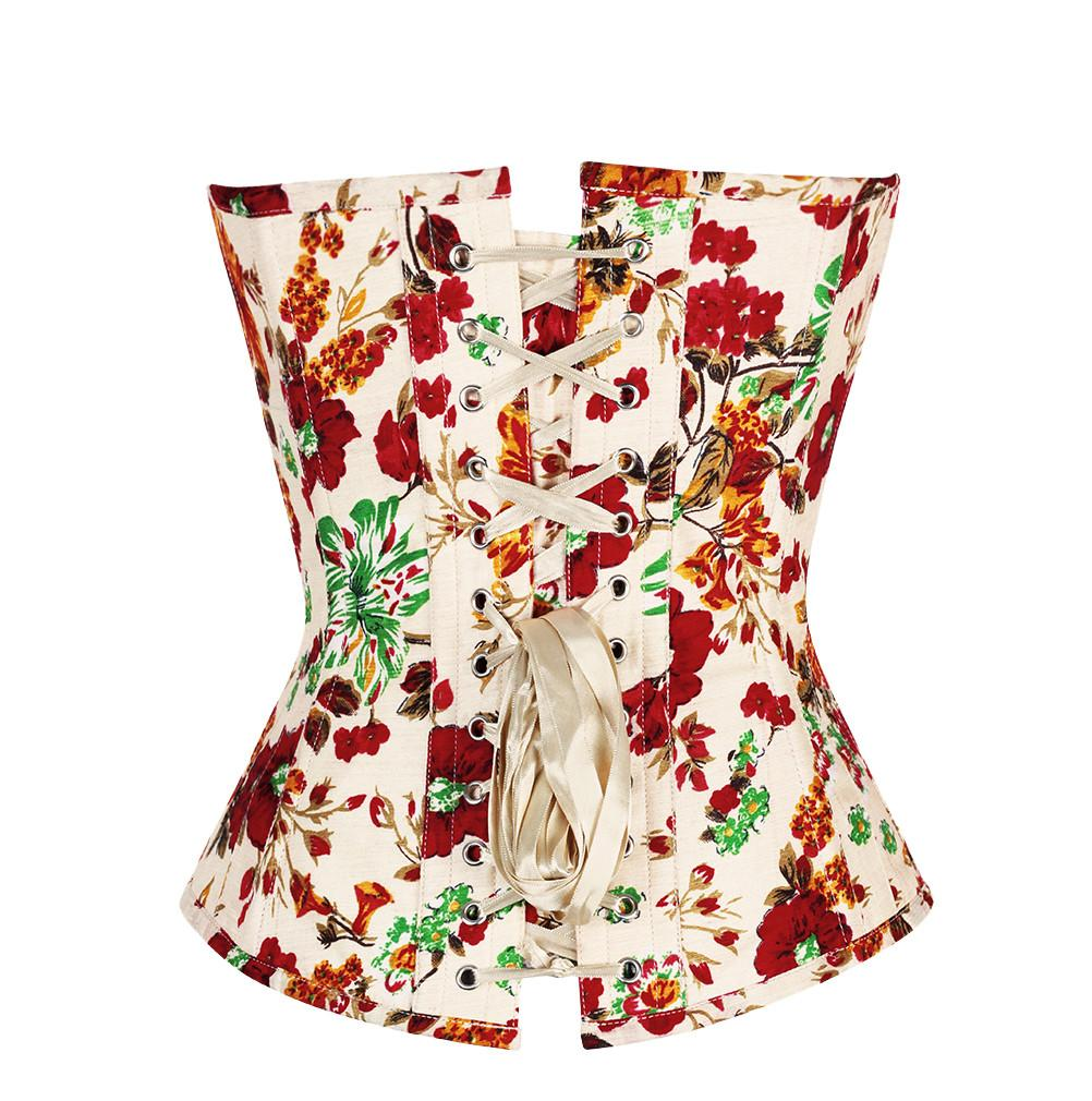 Peada Floral Print Overbust Corsets