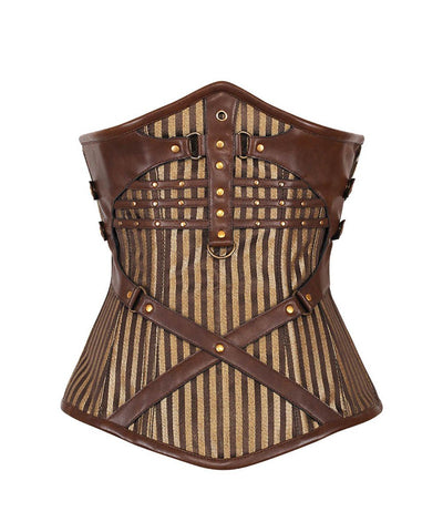 Pernell Steampunk Victorian Gold Underbust Corset