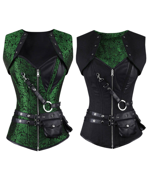 Arden Gothic Overbust Reversible Waist Training Corset