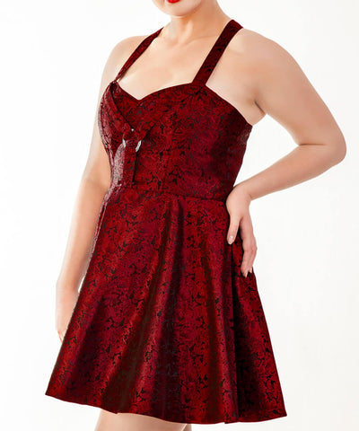 Elisheba Brocade Skater Dress-Pre-Order Deal