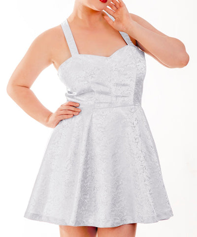 Aeneas White Skater Dress with Shoulder Straps-Pre-Order Deal