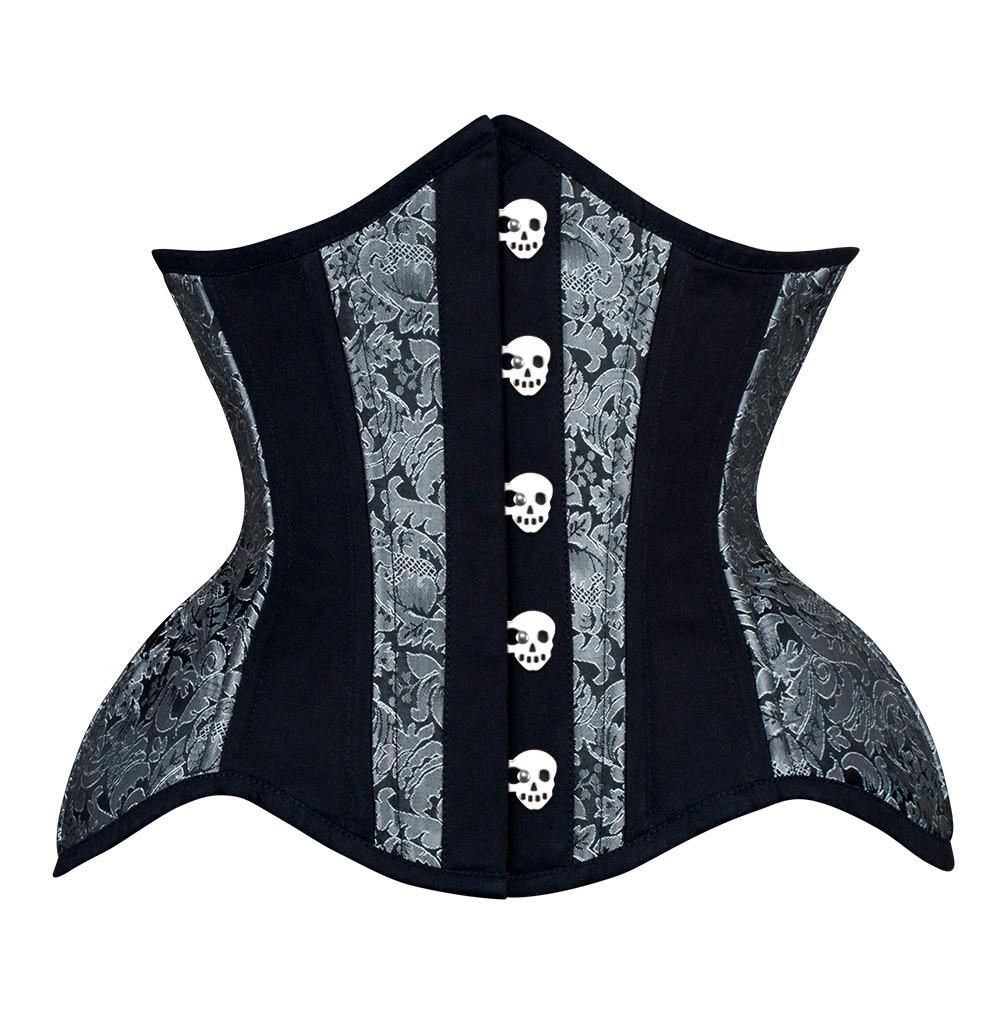 Hiatt New Curvy Waist Training Custom Made Corset with Skull Busk