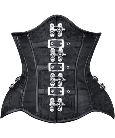 Rimona New Curvy Brocade Waist Trainer with Buckle