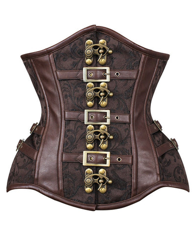 Admeta New Curvy Waist Trainer with Buckle in Brocade