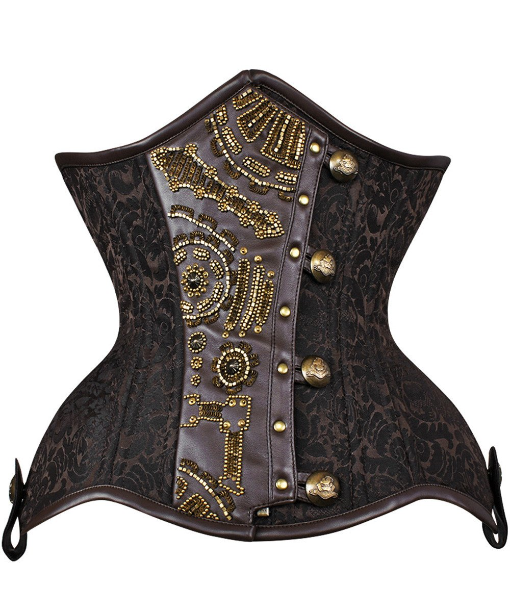 Capta New Curvy Embroidered Waist Trainer in Brocade