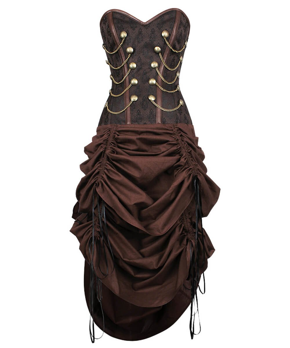 Rocco Steampunk Bustle Dress Custom Made